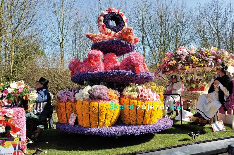 Školní výlet na květinové korzo v Holandsku