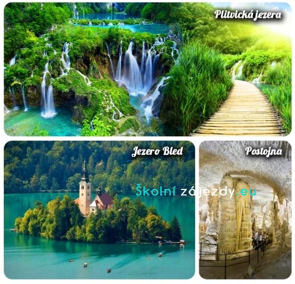 Školní zájezd do Chorvatska a Slovinska - Plitvická jezera, jezero Bled, Postojenská jeskyně